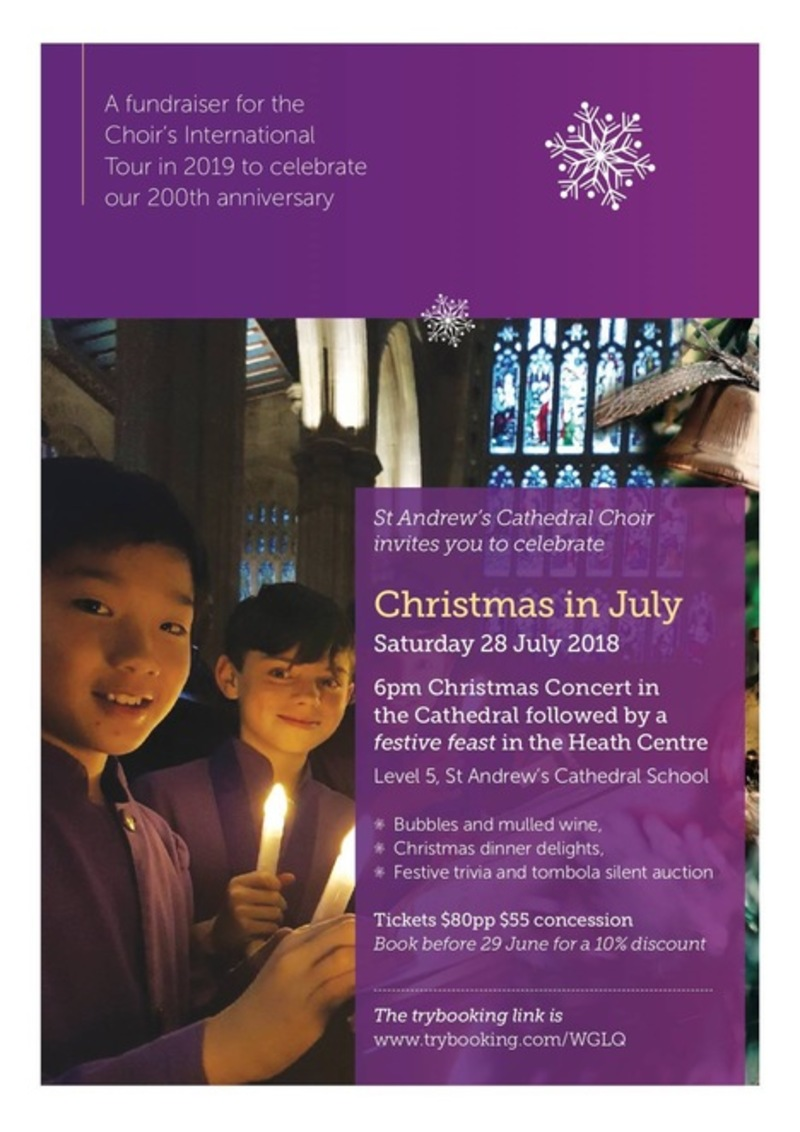 Christmas in July with the Choristers of St Andrew's Cathedral - Christmas in July with the Choristers of St Andrew's Cathedral