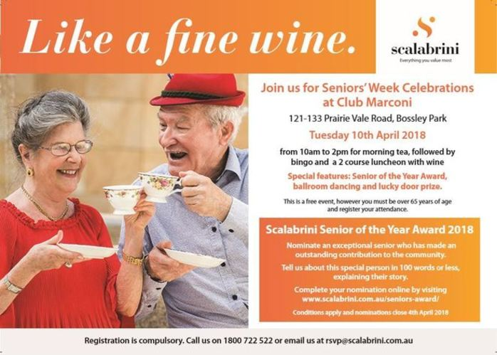 Like a Fine Wine - Seniors' Week Celebrations