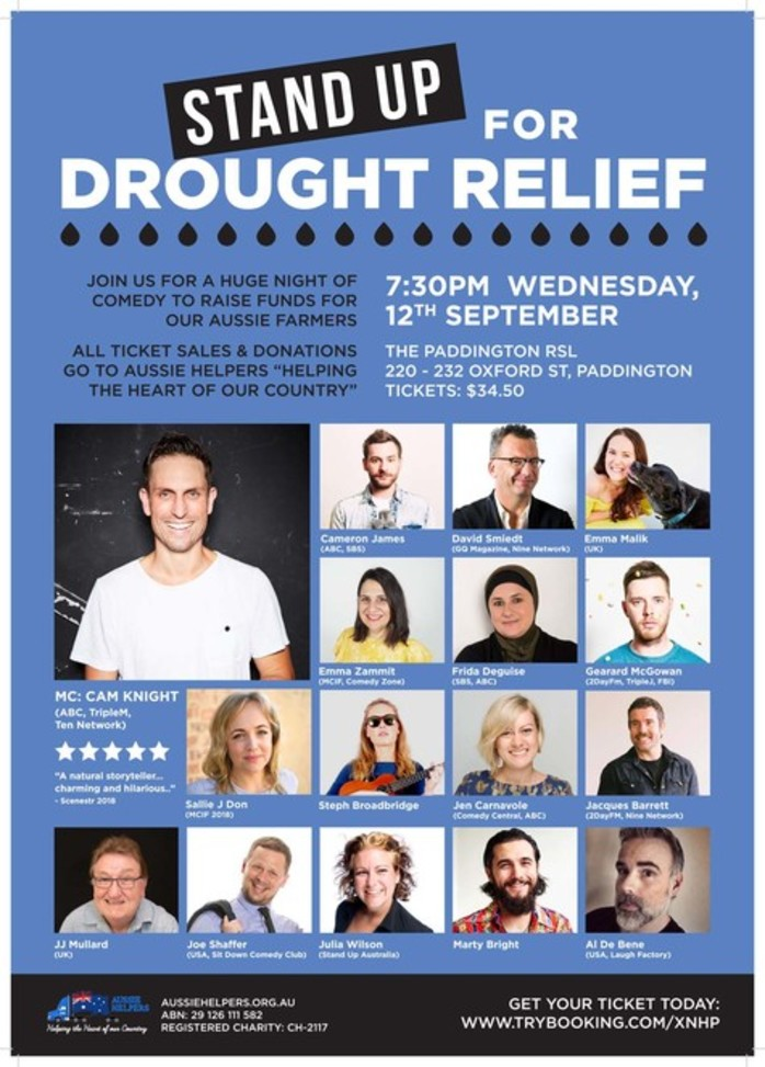 Stand Up For Drought Relief Comedy Night